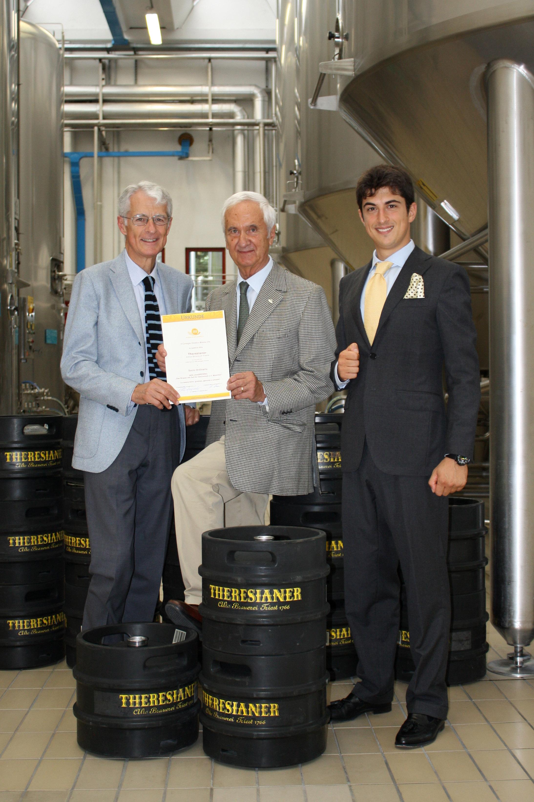 consegna attestato Slow Brewing settembre 2012